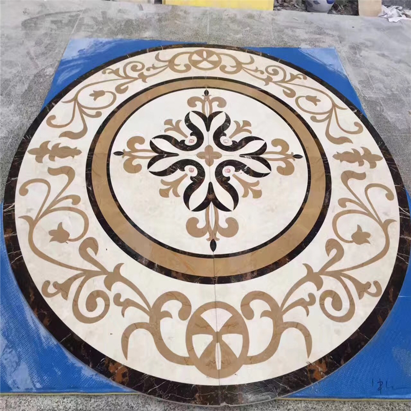 Waterjet marble patterns,marble water jet medallion,floor medallion,marble floor medallion,marble waterjet floor medallion,waterjet medallion,waterjet medallion floor