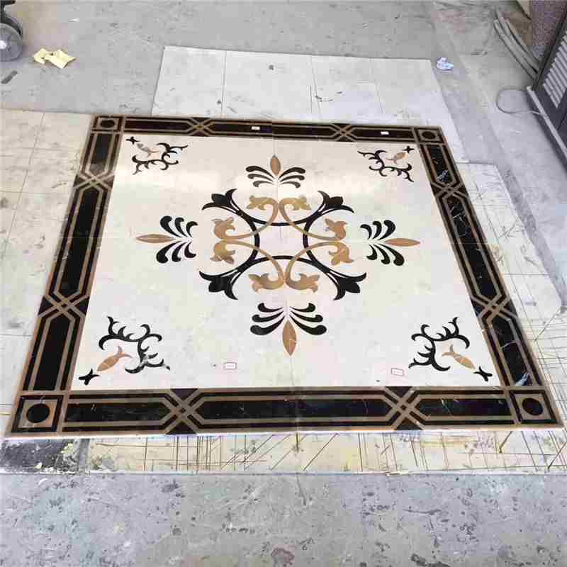 mosaic tile inlay designs,floor and decor backsplash,compass rose mosaic tile pattern,inlaid tile designs,tile compass,hobby water jet,fleur de lis tile medallion