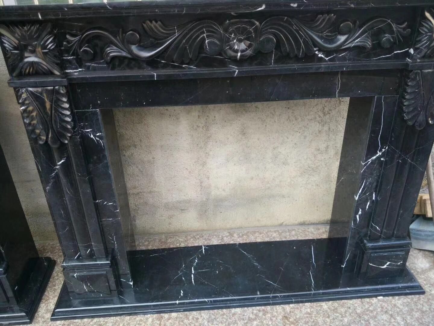 Antique Marble Fireplace Mantel Luxury