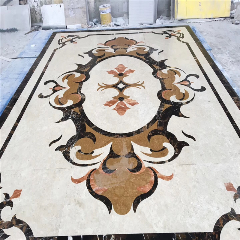 medallion paver stone,gold medallion,medallion tile,mosaic medallion,rectangle floor medallion,marble medallion water jet tile,stone medallion,water jet marble medallion