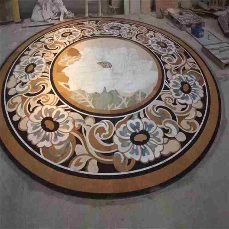 medallion hotel,water jet table price,waterjet signs,water jet marble floor medallions,compass rose tile inlay,mosaic inlay floor tiles,marble medallion floor tile