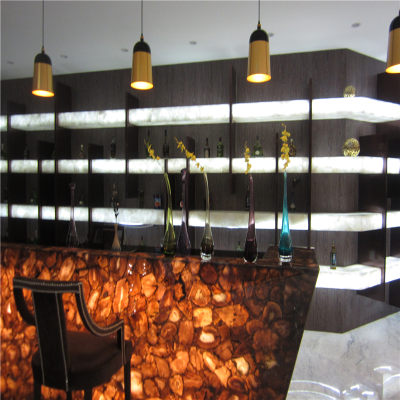 Exquisite semi-precious stone in interior design