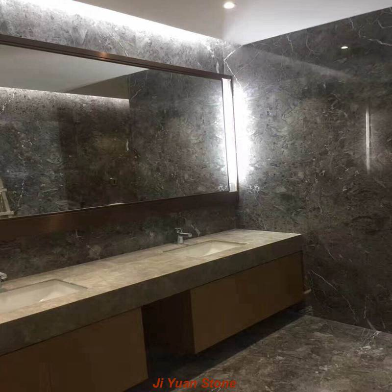 Gray marble tile,gray vanity top,gray marble,gray marble floor tile,white and gray marble,gray mosaic tile,gray and white mosaic tile,gray kitchen backsplash