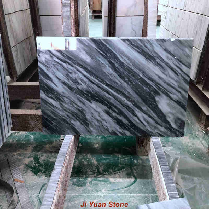 What are the considerations for grey marble stone selection?