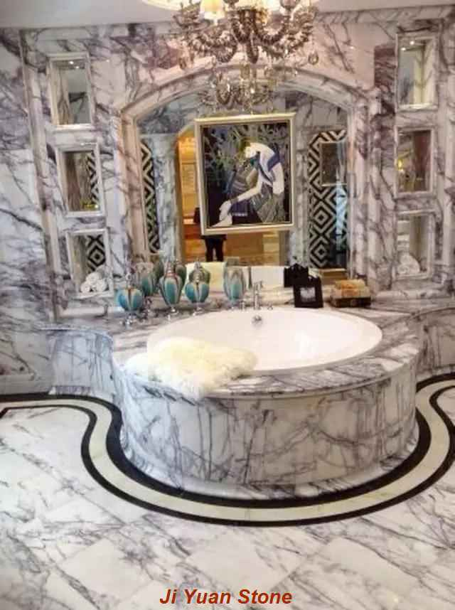 Marble shower walls appears to return to white,how to prevent and deal with it?