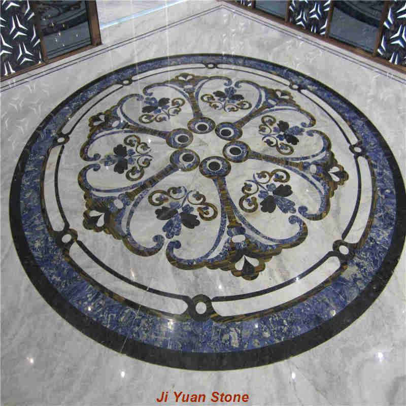How to choose natural marble floor medallions to make the floor?