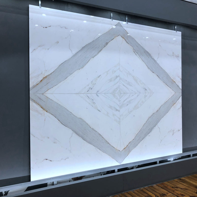 The beauty of bookmatched marble stone