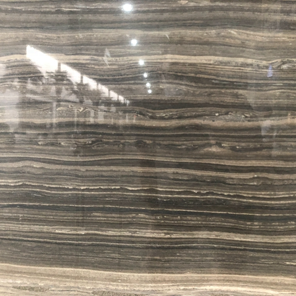 Natural obama wooden grain brown italian serpeggiante marble stone coffee dark brown flooring floor 12x12 table for bathroom and hotel