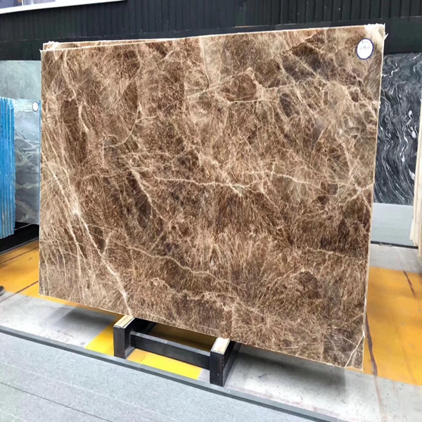 Italian Dark Brown Marble Slab Tiles For Residence and Hotel Decoration