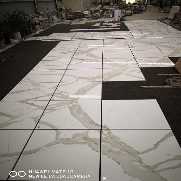 Different uses of white marble