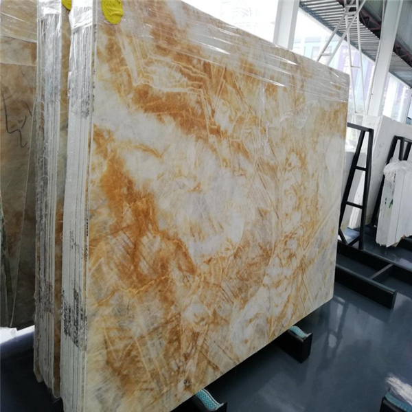 Dubai Gold Marble Stone Slab Tile backsplash for coffee table kitchen countertop vanity top