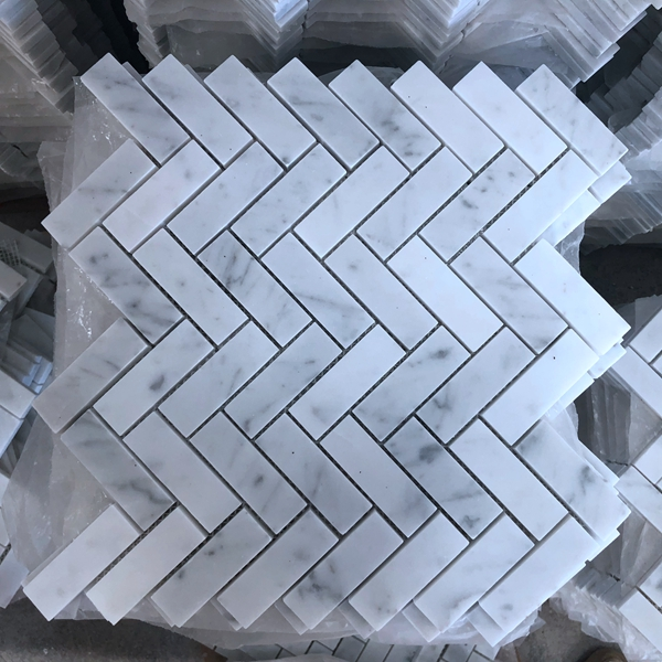 How to install carrara marble mosaic tile?